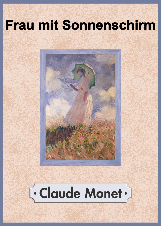 Claude Monet Frau Mit Sonnenschirm Opal Sockenwolle Online Shop